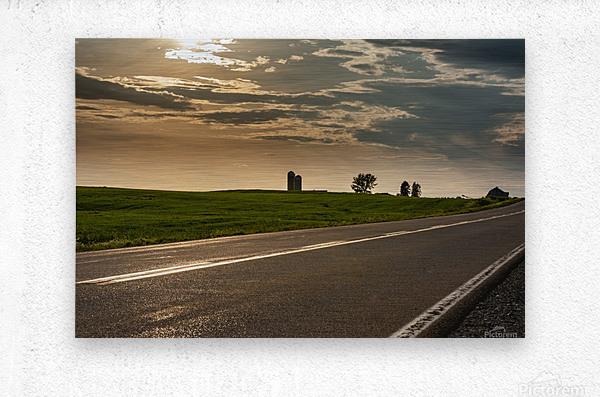 A twilight on the road  Impression metal