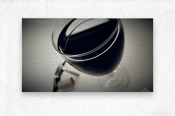 Wine Art 2  Metal print