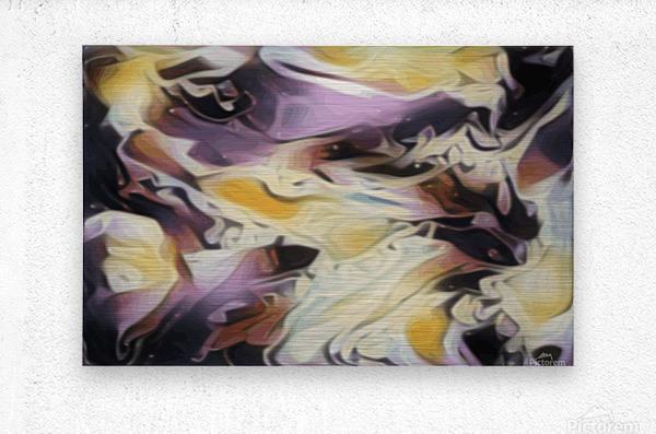 Cosmic - multicolored abstract swirl wall art  Metal print