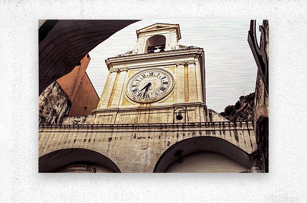The Church  - Tower Clock  Metal print