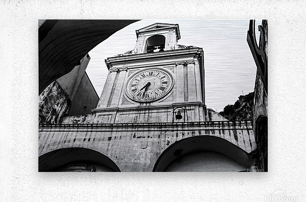 The Church - Ancient Tower Clock  Metal print
