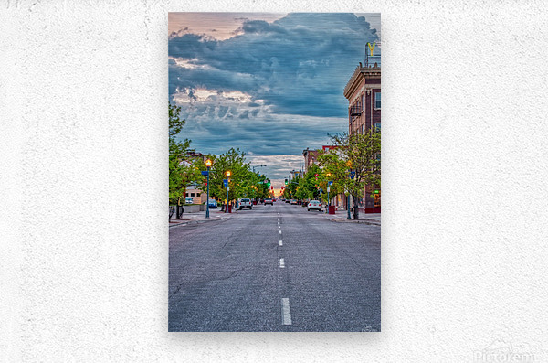 Storm Over Main Street  Metal print