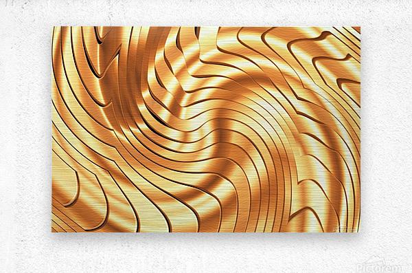 Goldie X v3.0  Metal print
