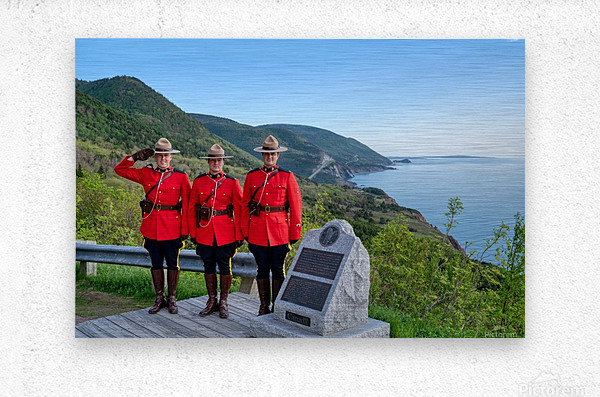 RCMP on French Mountain  Metal print
