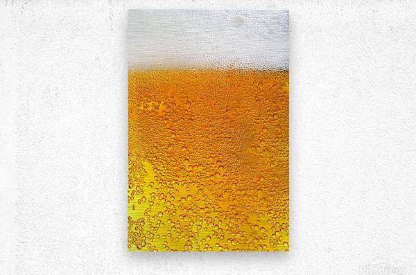 Beer Bubbles pattern  Metal print