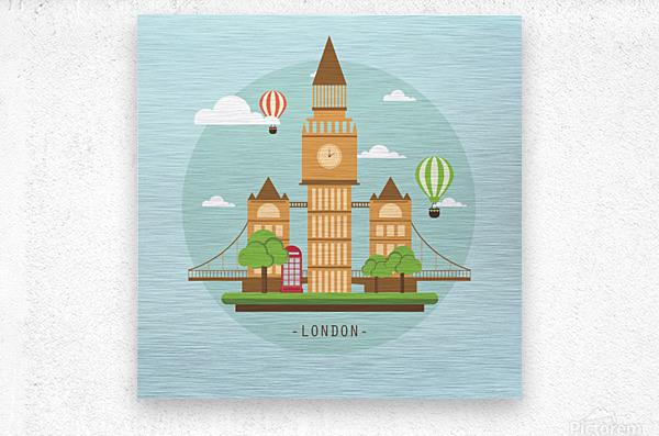 london watch landmark england  Metal print
