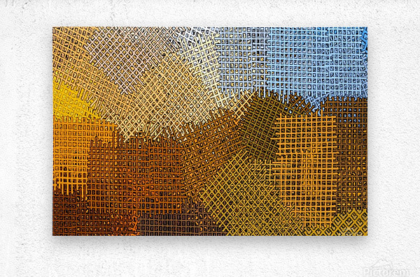 color colors abstract yellow brown  Metal print