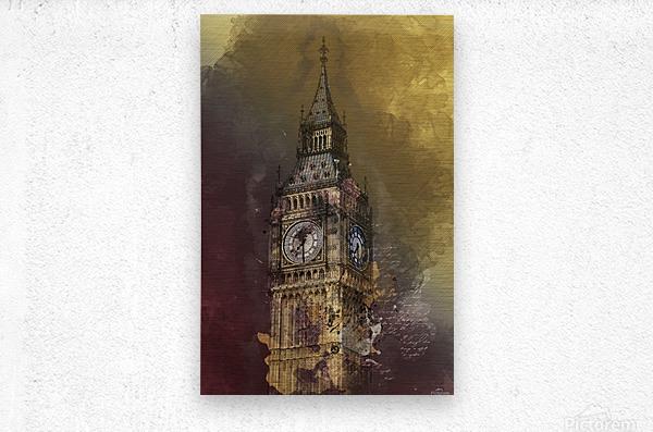london big ben building  Metal print
