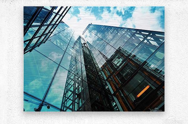 architectural design architecture building business  Metal print
