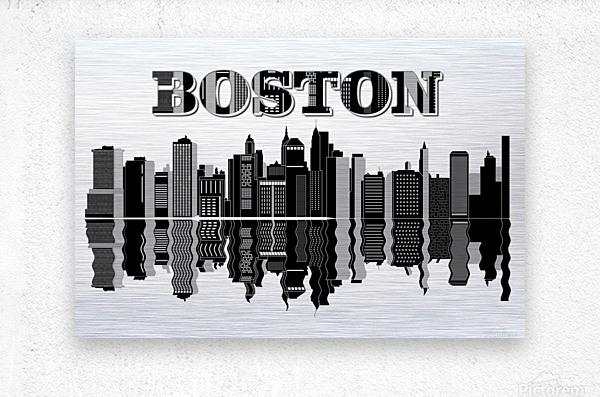 Boston cityscape buildings skyscrapers  Metal print