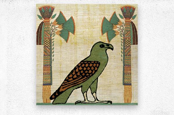 egyptian paper papyrus bird  Metal print