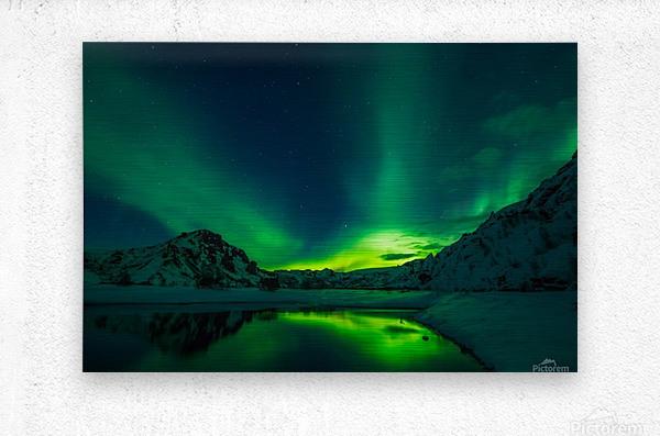 iceland aurora borealis  Metal print