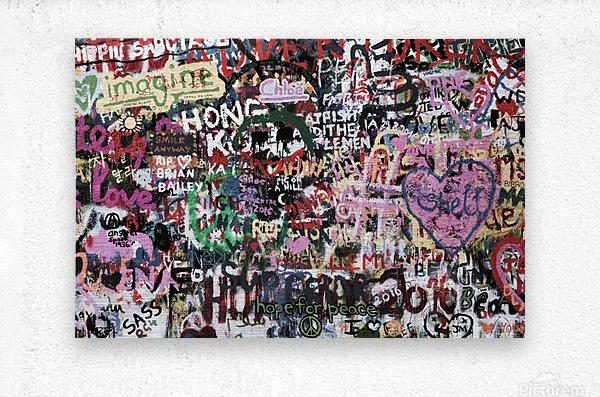 Graffiti Wall Background  Metal print