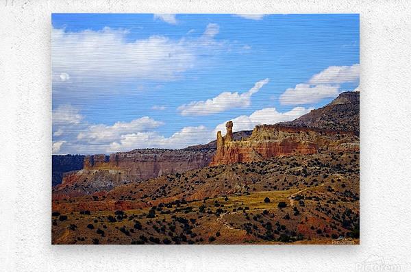 Chimney Rock Ghost Ranch NM   Metal print