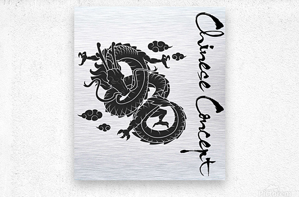 Chinese Concept 01A  Metal print