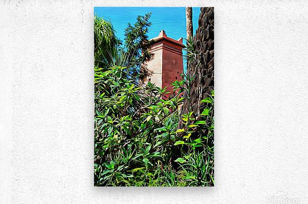 Tower At Jardin Majorelle Marrakech  Metal print