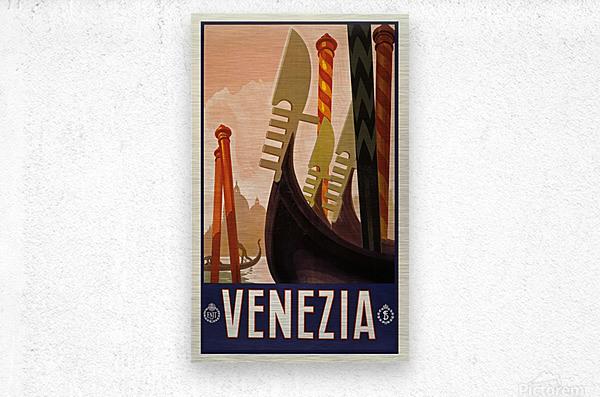 vintage travel travel poster  Metal print