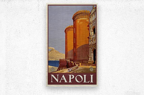 vintage travel travel poster poster  Metal print