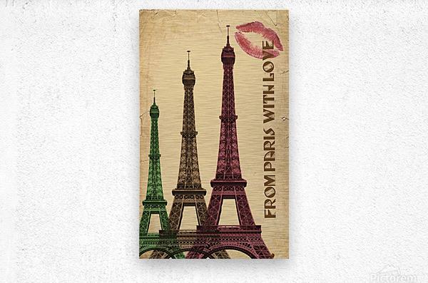 france paris paris france city  Metal print
