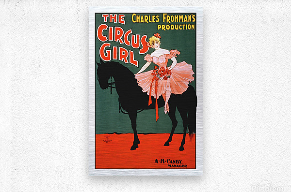 the circus girl vintage poster girl  Metal print