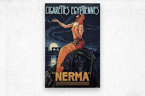 vintage poster print advertisement  Metal print