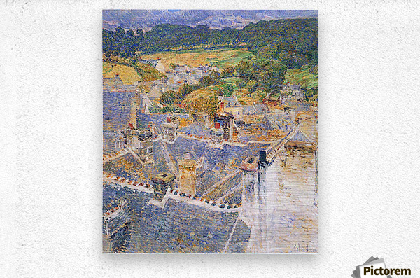 Roofs, Pont-Aven by Hassam  Metal print