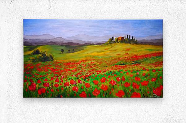 painting art landscape acrylic  Metal print