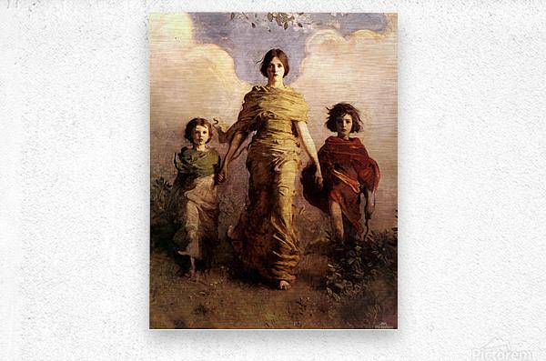 painting artwork art vintage  Metal print