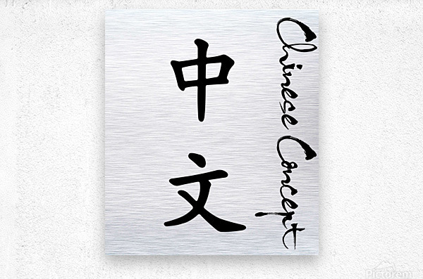 Chinese Concept 02A  Metal print
