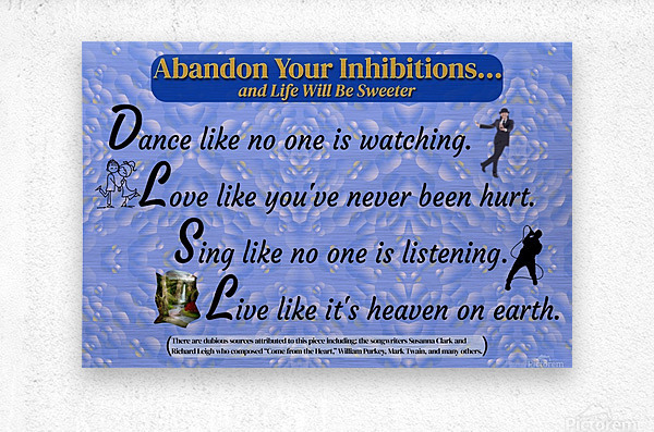 2-Dance Love Sing Live  Metal print