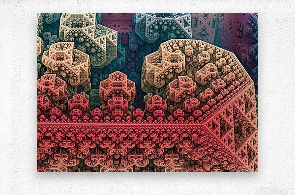 fractals 3d graphics designs    Metal print