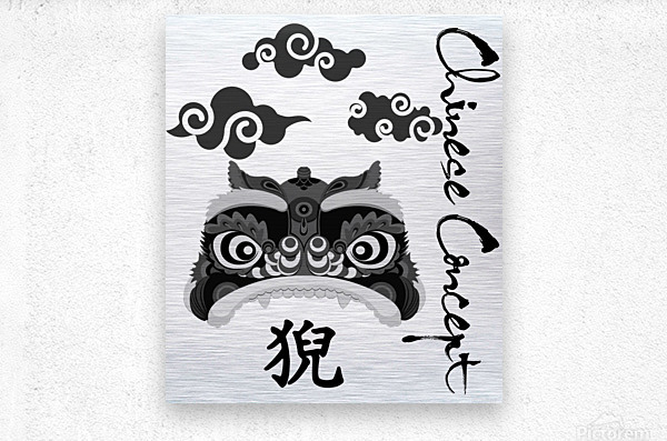 Chinese Concept 13A  Metal print