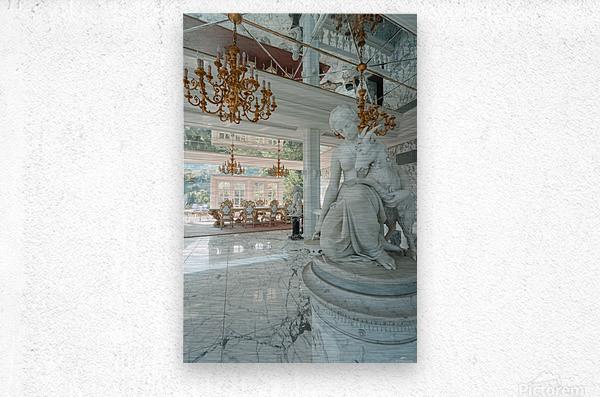 Abandoned Billionaires Mansion  Metal print