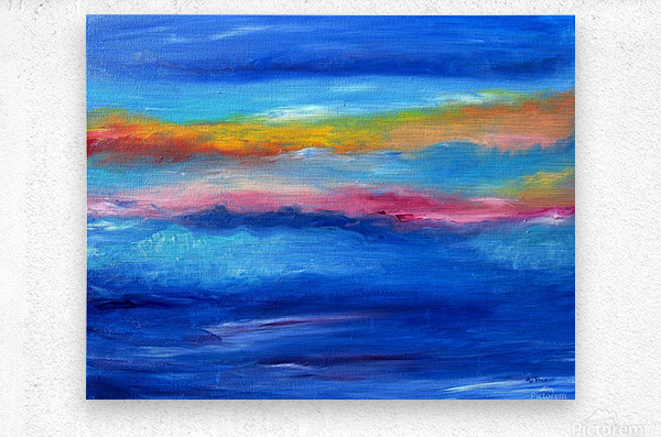 Floating Sky  Metal print