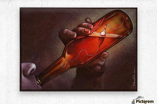 Drink  Metal print