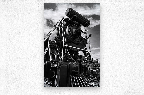 Canadian Steam Locomotive 6015 B  Metal print