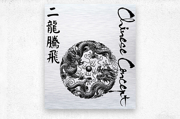 Chinese Concept 42A  Metal print