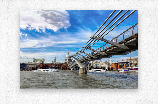 Landscape - London skyline - St Pauls Cathedral  Metal print
