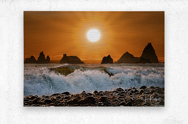 Sunset at Rialto Beach  Metal print