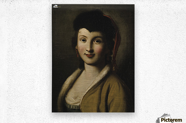 Portrait of a young woman  Metal print