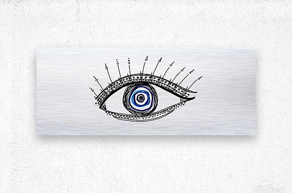 The Eye 20X8  Metal print
