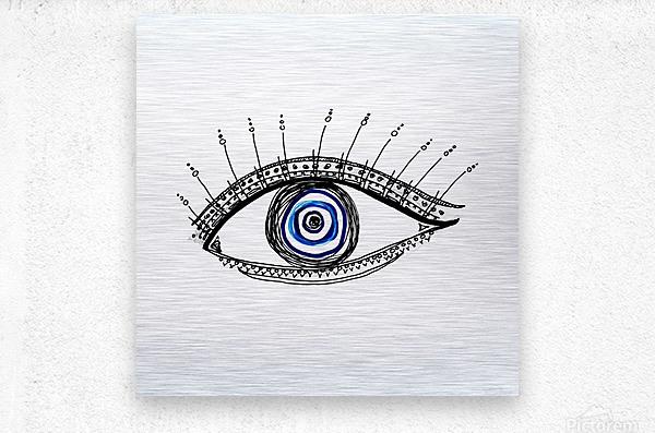 The Eye  12X12 1 1  Metal print