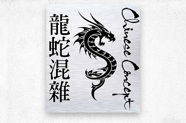 Chinese Concept 56A  Metal print