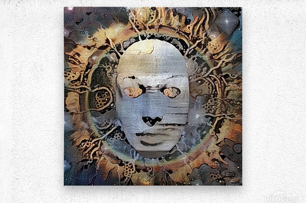 The Mask of Mystery  Metal print