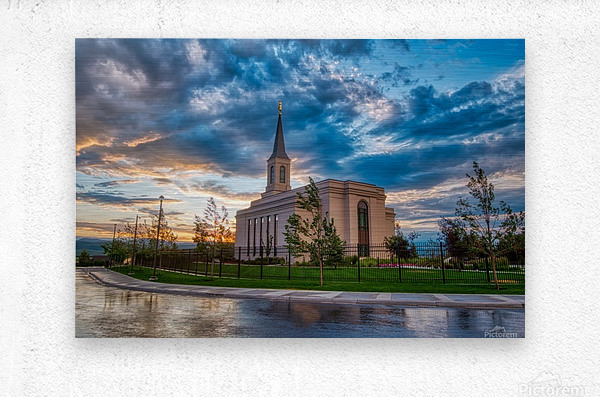 Star Valley Wyoming Temple - The Church of Jesus Christ of Latter-day Saints  Metal print