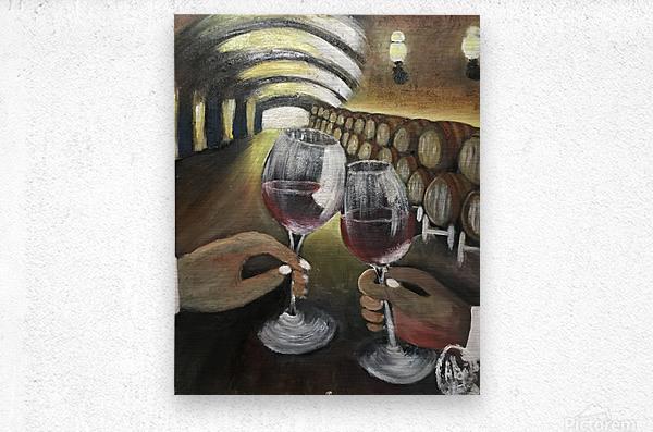 A wine Tasting   Metal print