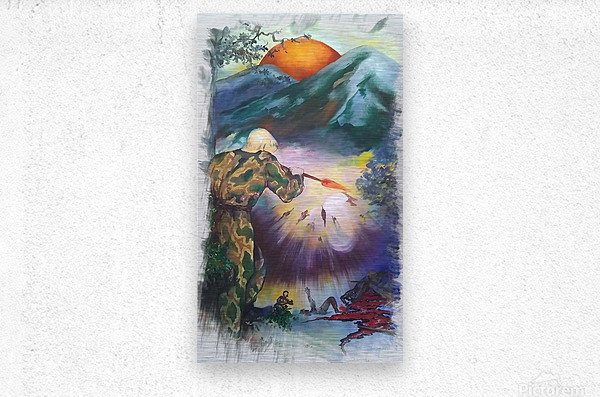 War Has Never Solved Anything    Metal print