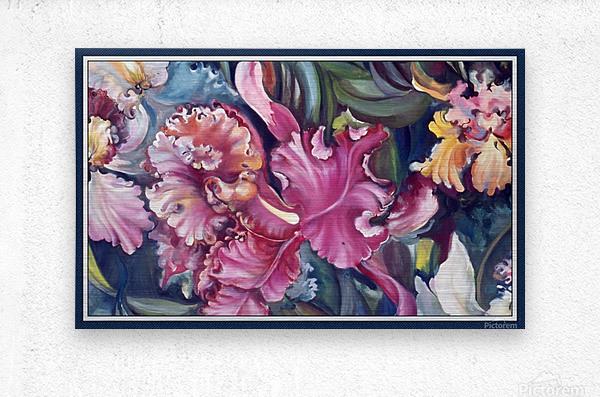 Orchids Blooming   Metal print