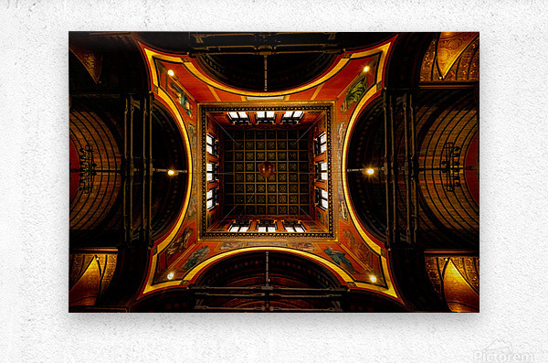 Heavenly View - Trinity Church  Metal print