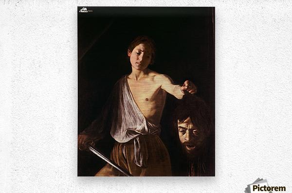 David con la testa di Golia  Metal print